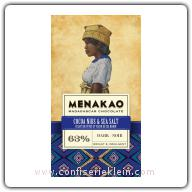 Menakao Cocoa Nibs & Madagascan Sea Salt Dark Chocolate 63% 65g