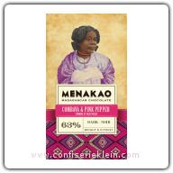 Menakao Combava & Pink Pepper Dark Chocolate 63% 65g
