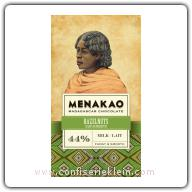 Menakao Hazelnuts Milk Chocolate 44% 65g