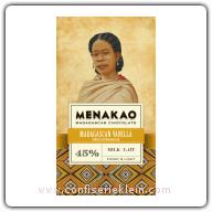 Menakao Madagascan Vanilla Milk Chocolate 45% 65g